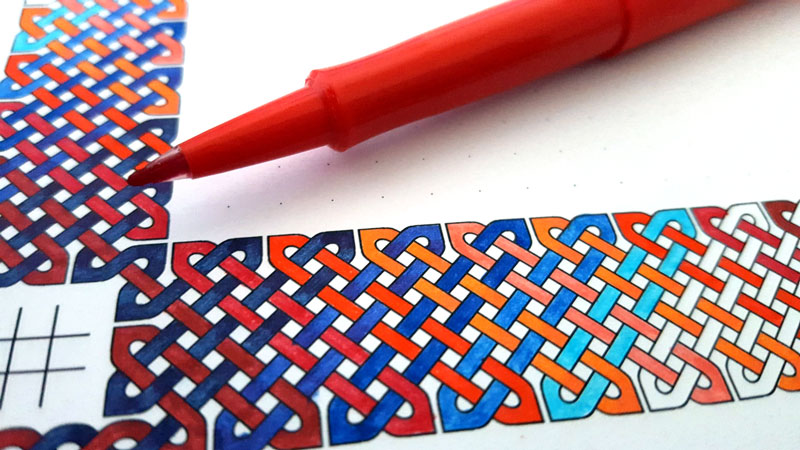 Busywork Knotwork Coloring Notebook Paper